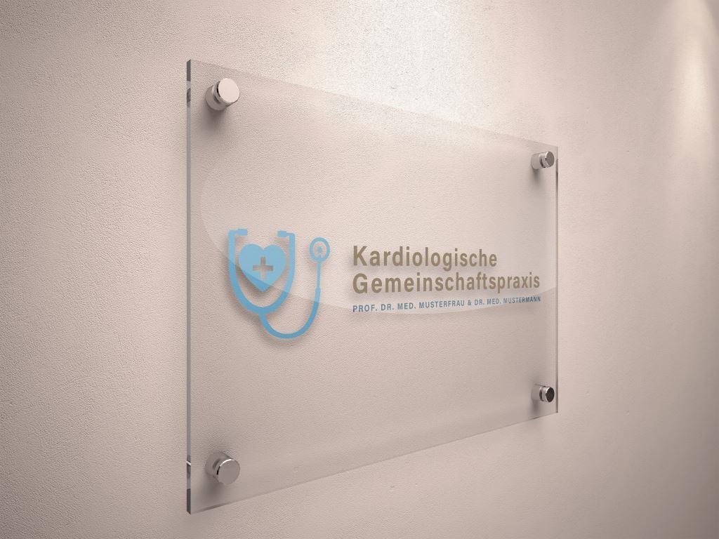 Arzt Logo Beispiel 2 - Logo für Kardiologische Gemeinschaftspraxis