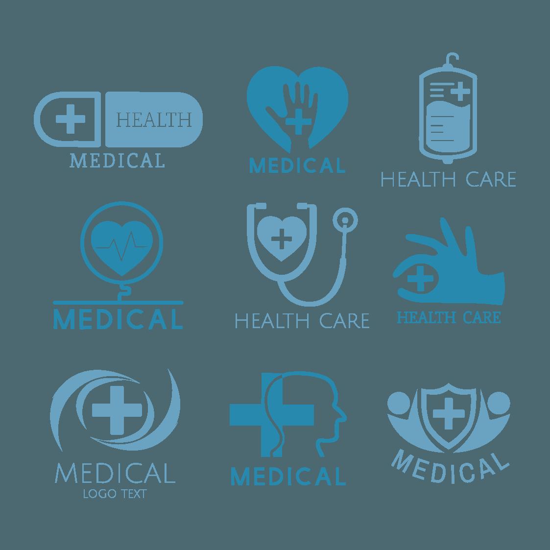 Arzt Logo Beispiele im Rastergitter