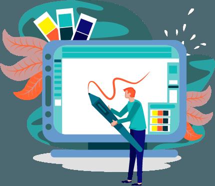 Ein Arzt-Logo muss drei Eigenschaften haben. Auf dem animierten Bild ist zu sehen, wie ein Designer auf ein Rechner schreibt.