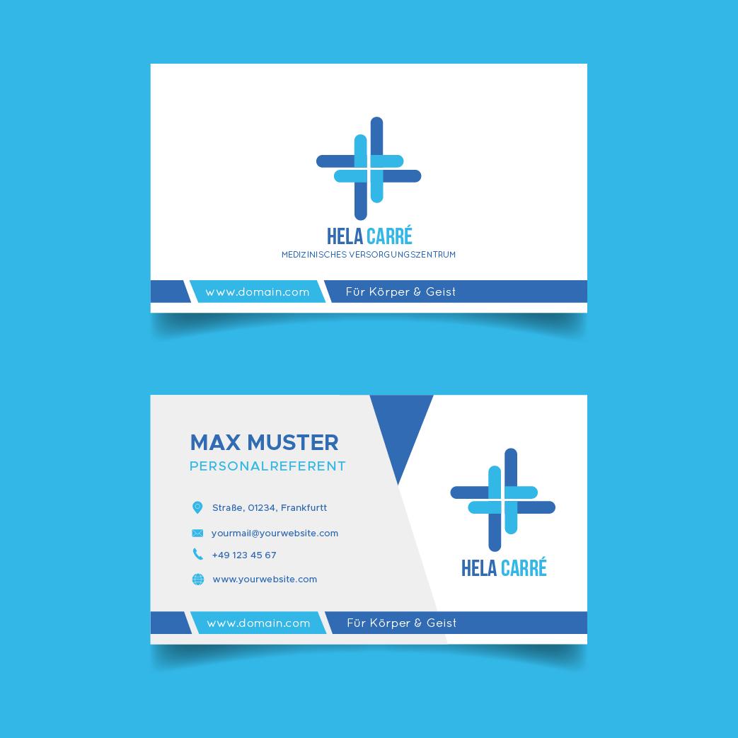 Beispiel 4 - Visitenkarten für Ärzte - Visitenkarten für das medizinische Versorgungszentrum Hela Carré