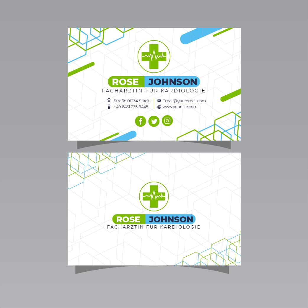 Beispiel 5 - Visitenkarten für Ärzte